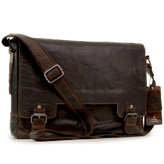 Сумка мужская горизонтальная Ashwood Leather Kingston 8343 Brown