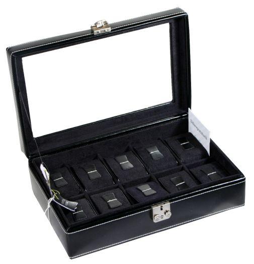 Шкатулка для хранения 10 наручных часов.  Friedrich Lederwaren London 26105-2
