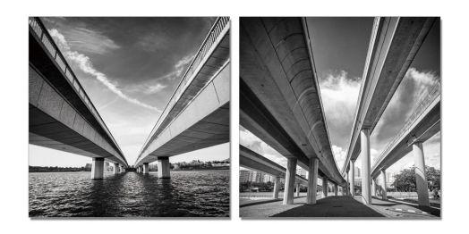 """Модульная картина """"Живописный мост"""" 60x60"""