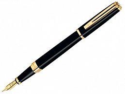 Ручка перьевая Waterman Exception Slim черный лак GT M S0636940