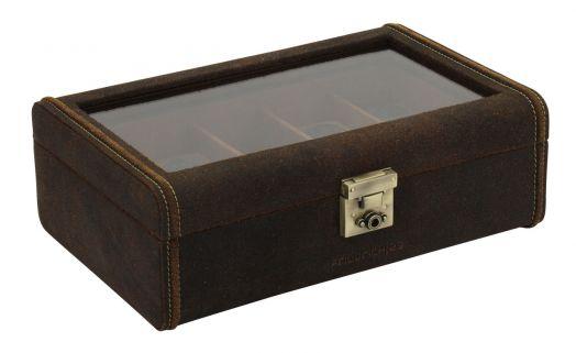 Шкатулка для хранения 8 наручных часов  Friedrich Lederwaren Cubano 27022-6
